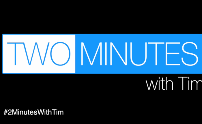 2 Minutes with Tim: Starting your own charity